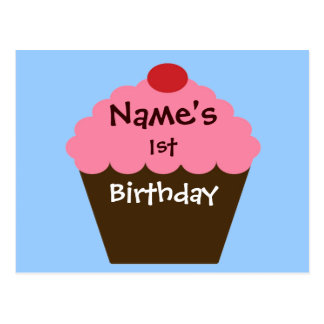 Pink Cupcake Love Postcard
