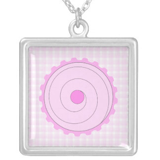 Pink Cupcake. Personalized Necklace