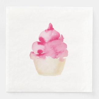 Pink Cupcake Paper Napkin