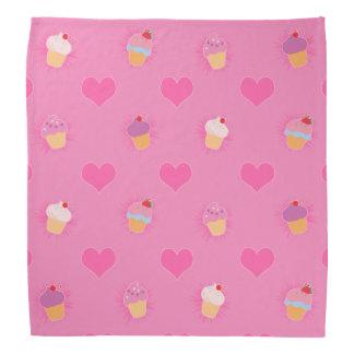 Pink Cupcake Pattern Bandana