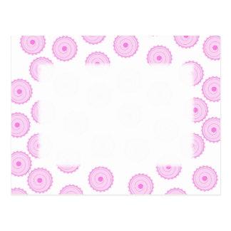 Pink Cupcake Pattern. Postcard