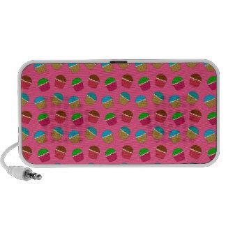Pink cupcake pattern mp3 speaker