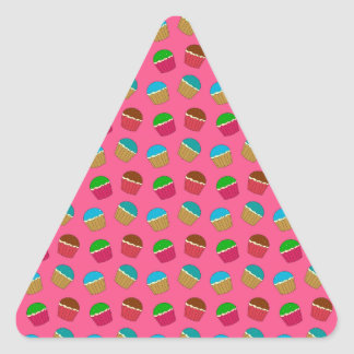 Pink cupcake pattern stickers