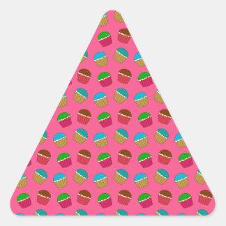 Pink cupcake pattern sticker