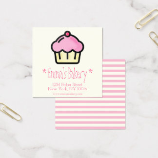 Pink Cupcake - Personalized Bakery Business Cards