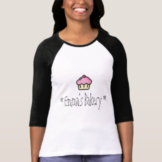 Pink Cupcake - Personalized Bakery T-Shirt
