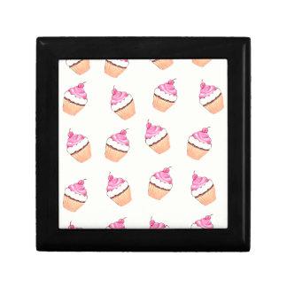 Pink Cupcake Print Small Square Gift Box