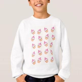 Pink Cupcake Print Sweatshirt