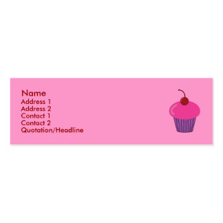 Pink Cupcake Profile Cards Pack Of Skinny Business Cards