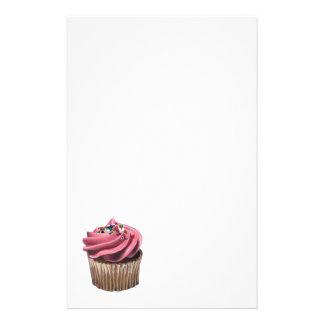 Pink Cupcake Stationary Stationery