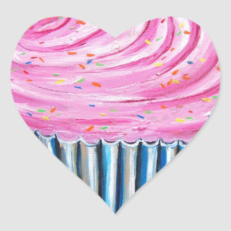Pink Cupcake Stickers