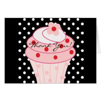 Pink Cupcake Thank You Cards