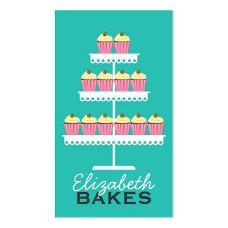 Pink Cupcake Tier Business Card