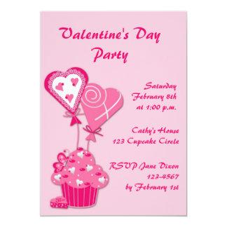 Pink Cupcake Valentine Invitation