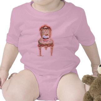 Pink Cupcake Victorian Chair Baby Tshirt