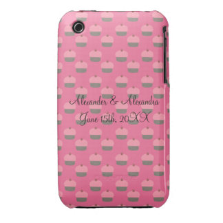 Pink cupcake wedding favors iPhone 3 Case-Mate cases