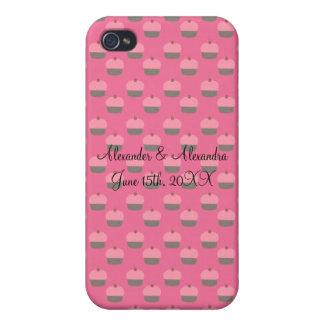 Pink cupcake wedding favors iPhone 4/4S case