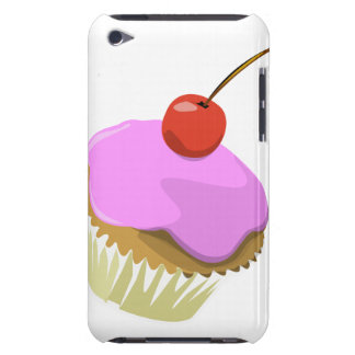Pink cupcake with cherry ipod touch case
