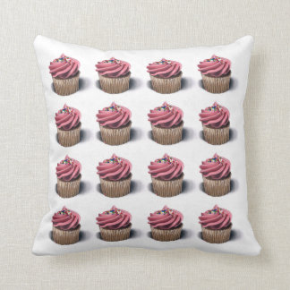 Pink Cupcakes Art Pillow