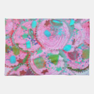 Pink Cupcakes kitchen towel