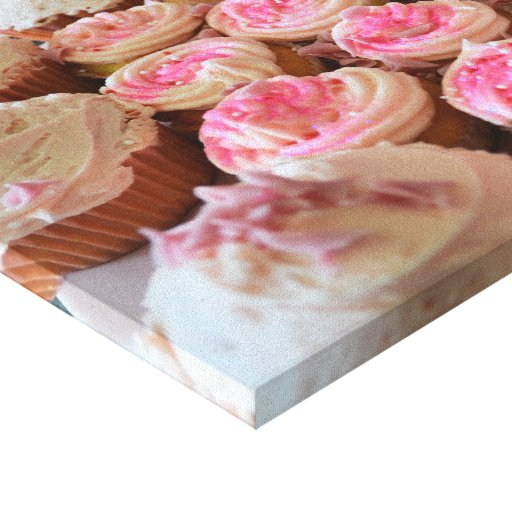 Pink Cupcakes Stretched Canvas Prints