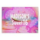 Pink Cupcakes Sweet 16 Personalised Birthday Card