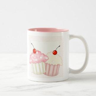 Pink Cupcakes Two-Tone Coffee Mug