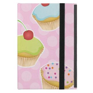 Pink Cupcakes with cute Polka Dots iPad Mini Case