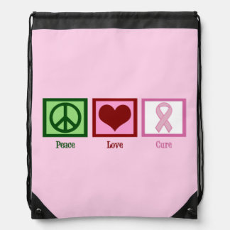 Pink Cure Drawstring Backpack