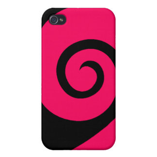 Pink Curl Case For iPhone 4