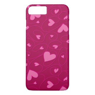 Pink curly hearts iPhone 8 plus/7 plus case