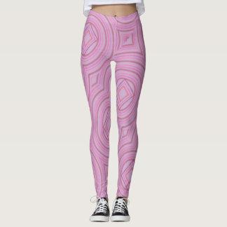 Pink curve leggings