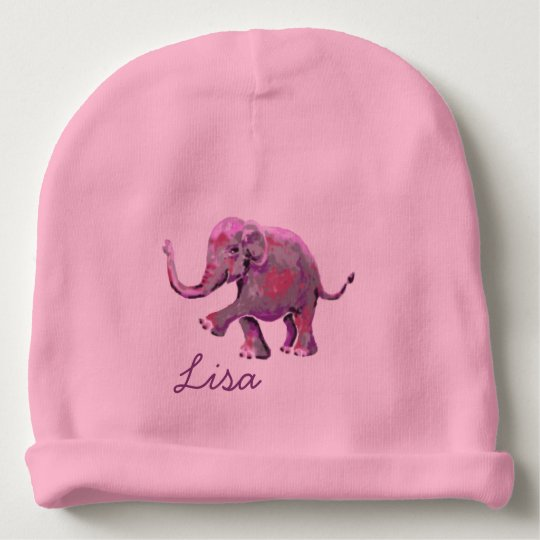 Pink Custom Name Cute Cheeky Baby Elephant Baby
