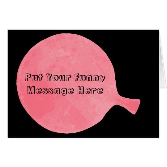 Pink Custom Whoopee Cushion Humourous Greeting Card