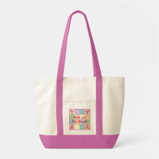 Pink Customizable Patchwork Tote Bag