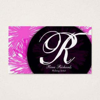 pink customize your mongram business card