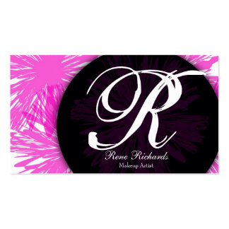 pink customize your mongram pack of standard business cards