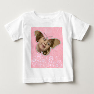 Pink cute butterfly photo frame gifts for girls shirt