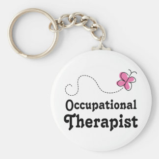 Pink Cute Occupational Therapist Keychain