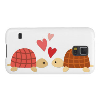 Pink cute turtle love couple galaxy s5 covers