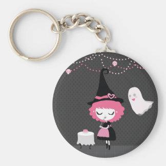 Pink Cute Witch Keychan Keychains