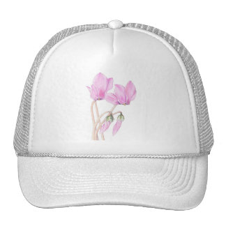 Pink Cyclamens Hat