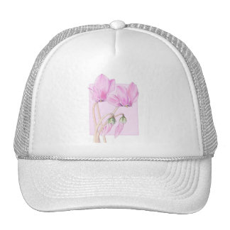 Pink Cyclamens pink Hat