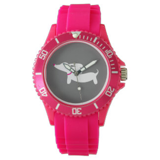 Pink Dachshund Dog Watch Wiener Dog Lover