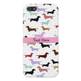 Pink Dachshund iPhone 5 Case