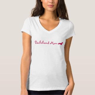Pink Dachshund Mom Tshirts