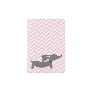 Pink Dachshund Wiener Dog Passport Cover Travel