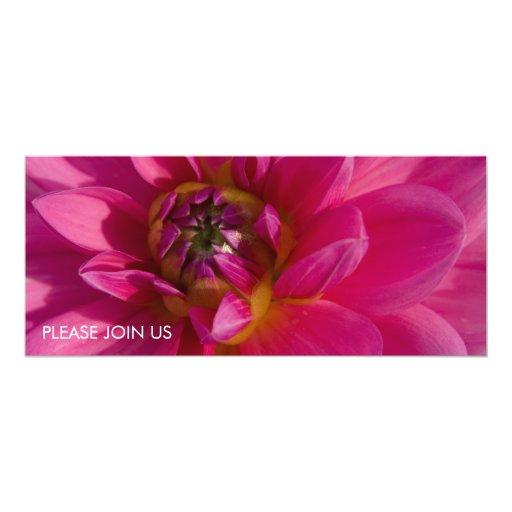 Pink Dahlia 10 Cm X 24 Cm Invitation Card
