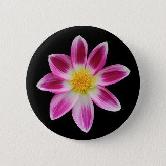 Pink Dahlia 6 Cm Round Badge