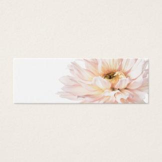 Pink Dahlia Artwork - Customize Mini Business Card